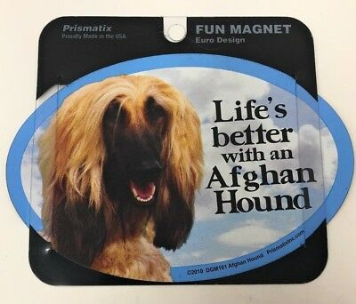 LIFE'S BETTER WITH AN AFGHAN HOUND, Dogs,Gifts, Cars, Trucks. Lockers  Prismatix