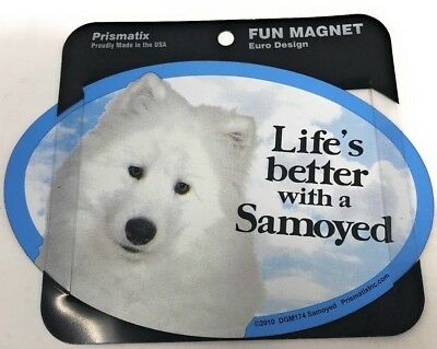 LIFE'S BETTER WITH A SAMOYED MAGNET DOG Dog, Cars, Trucks. Lockers