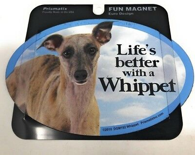 LIFE'S BETTER WITH A WHIPPET MAGNET DOG Dog, Cars, Trucks. Lockers