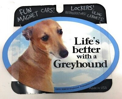 LIFE'S BETTER WITH A GREYHOUND MAGNET Dog, Cars, Trucks. Lockers