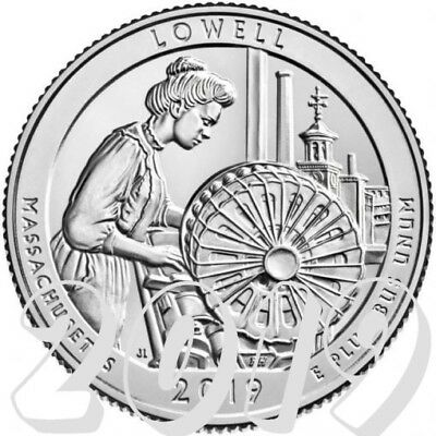Lowell National Park Quarter 2019 P Mint - sofort lieferbar -