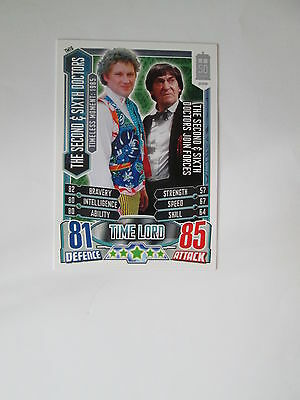 Doctor Who Alien Attax 50th Anniversay set - TM16 The Second & Sixth Doctors