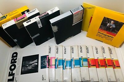 **LOT 8x10 UNOPENED- Kodak/ilford/etc Photo paper film various over-700 SHEETS