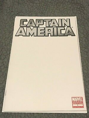Captain America #1   blank sketch cover variant