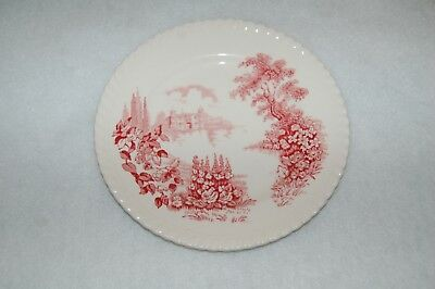 """Johnson Brothers CASTLES ON THE LAKE PINK Dessert Plate (7"""")"""