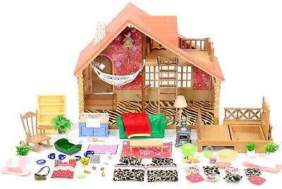 *fistuff* Sylvanian Families Decorated Log Cabin/House Figures Furniture Lots