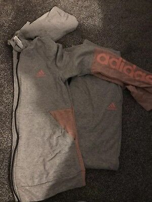 Adidas Womans Pink/grey Tracksuit S 8/10