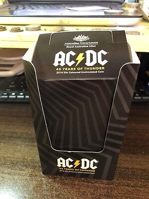 2018 AUSTRALIA • AC/DC 50 Cent Coin Empty Packaging Box No Coins