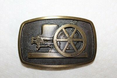 JOHN DEERE E Stationary Engine Farm Power Series #2 Belt Buckle Spec Cast Mint