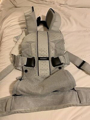 Baby Bjorn One Baby Carrier Air Silver Fabric Mesh