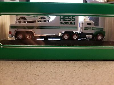 "2001 HESS TOY TRUCK MINIATURE ""RACER TRANSPORT"" - New in the Box"