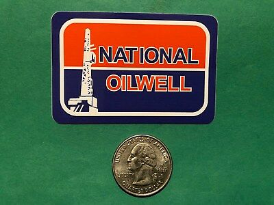 National Oilwell Nov Oilfield Gas Well Drilling Oil Decal Hard Hat New Release