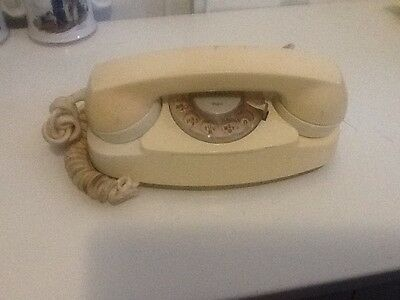 Western Electric 702B Rotary Princess Telephone - off White in color & Working.