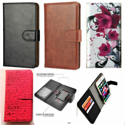 Slim Premium Clip-on Mobile Phone Case wallet For EE Hawk Mobile - PU Leather L