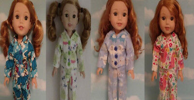 Doll Clothes Pajamas Fits 14.5 inch American Girl Wellie Wishers Doll 270wabcd