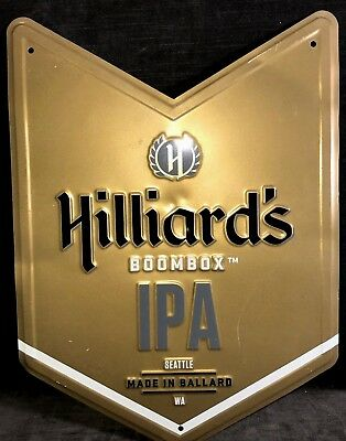 Hillards Boombox IPA Beer Seattle Washington Made in Ballard Sign MS3