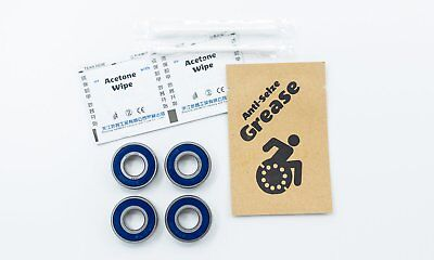 Fork Wheelchair Bearings 6001 ABEC-3 28x12x8mm Serviceable (4-Pack)