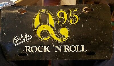 Vintage 1978 Wfbq Q95 The Album Station Plate Bob & Tom Indianapolis In Rock