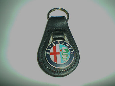 ALFA ROMEO Leather Backed Keyring - Excellent Condition!