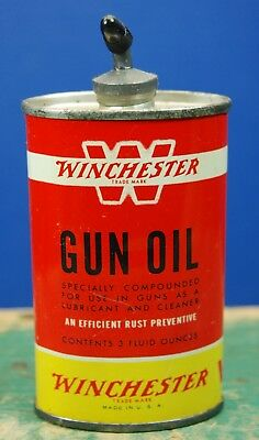 Vintage WINCHESTER Gun Oil Can 3 OZ Oval Lead Top. OLIN INDUSTRIES