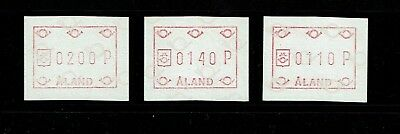 Aland 3 metered stamps, Mint Never Hinged - Lot 092417