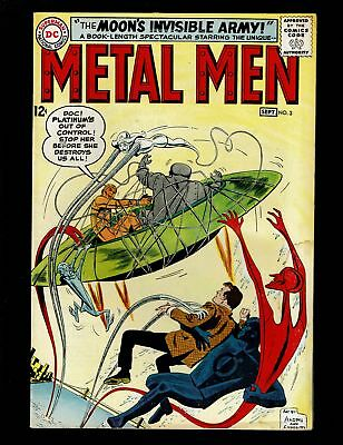 METAL MEN 3 VGF 5.0 1st DOC MAGNUS THOUGHT POWER INVISIBLE MOON ARMY ROSS ANDRU