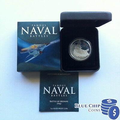 2011 $1 Famous Naval Battles Of Midway 1oz Silver Proof Coin