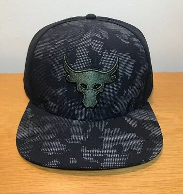 7a94e9fbe NWT UNDER ARMOUR Mens UA x Project Rock Mesh Black SuperVent Snapback Cap  Hat