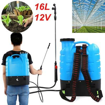 16L Electric Weed Sprayer Garden Backpack Farm Watering Double Nozzles AU Plug
