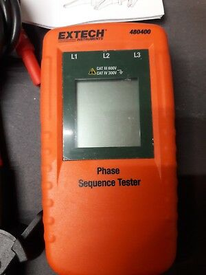 Extech 480400 Phase sequence tester, missing 1 cable