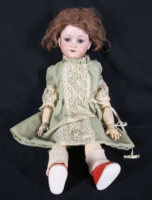 "Antique German A 2 M Armand Marseille Doll 17"" 390 Old Clothes NR yqz"