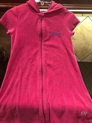 """OP GIRL'S TERRY CLOTH SWIM COVER UP-SIZE Large (10/12) """"Kaelin"""""""