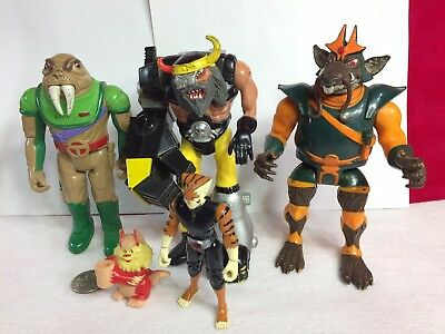 Lot of Vintage 1985 Thundercats Action Figures Snarf Pencil Holder & Tygra Fig