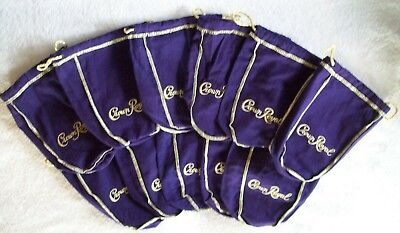 Lot Of 11 Purple Crown Royal Bags 750 ml size BLOW OUT...
