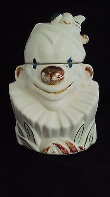 Vintage 1940's McCOY Clown Bust Cookie Jar