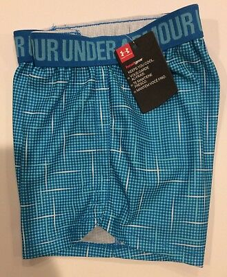 NWT Under Armour Girls Size 6 Turquoise Print Athletic Shorts