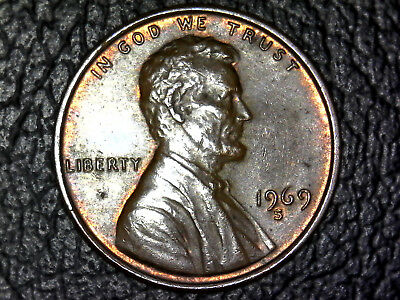 1969-S Lincoln Cent Penny Ddo Doubled Die Obverse!! Obvious Doubling See Photos!