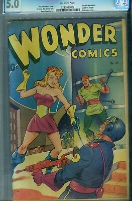 WONDER COMICS #16 CGC 5.0      Schomburg airbrush cover.    GGA