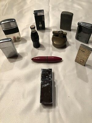 Lot Of Unique Vintage Lighters - 10 Total - Free Shipping