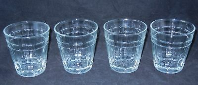 Set of 4 Longaberger Woven Traditions 12oz Drinking Glasses
