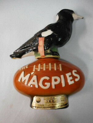 #Bb9.  #5.  1977 Ceramic Western Suburbs / Collinwood Magpies Jim Beam Bottle