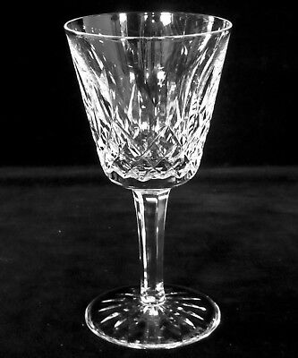 """Waterford Crystal Lismore Claret Wine Goblet Glass 5 7/8"""" Tall 3"""" Dia, Signed"""