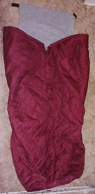 'Comfy Cover' Maroon Fleece Lined Weather Protect Wheelchair Leg Cosy Cover (L)