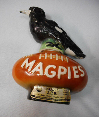 #Bb9.  #6.  1977 Ceramic Western Suburbs / Collinwood Magpies Jim Beam Bottle