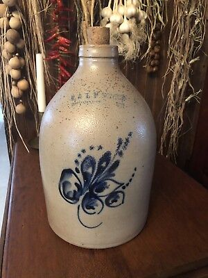 Antique Stoneware Jug E&LP Norton 1861-1880