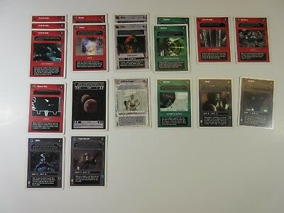 Lot of 19 Star Wars CCG Cards WB A New Hope Unlimited 1998 Decipher SP/MP (WN1)
