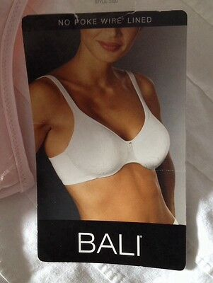 a73568fb77 LOT OF 2--40B White and Beige BALI NO POKE LINED UNDERWIRE BRAS ...