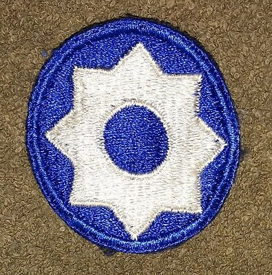 Original WW2 US Army 8th Service Command Patch