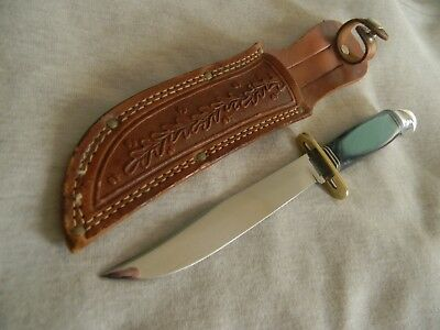 "Western Boulder 9"" Fixed Blade Combat Knife w/Pat # & sheath"