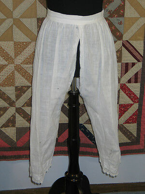 Antique Victorian Pantaloons~Bloomers~Hand Made Crochet Lace~